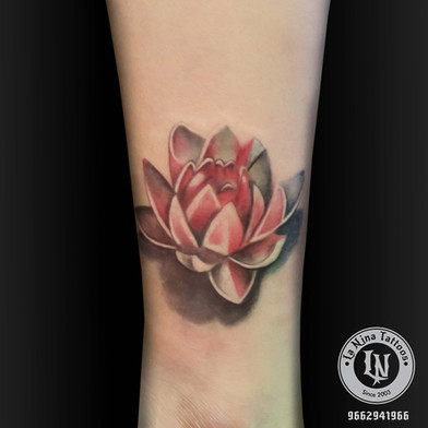 Lotus tattoo | La Nina Tattoos | Best tattoo studio in ahmedabad| Best tattoo artist | Gujarat | India