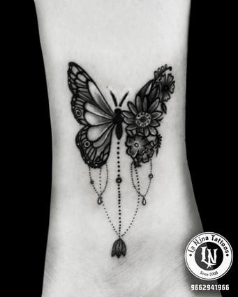 Butterfly tattoo | La Nina Tattoos | Best tattoo studio in ahmedabad| Best tattoo artist | Gujarat | India