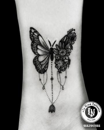 Butterfly tattoo | La Nina Tattoos | Best tattoo studio in ahmedabad| Best tattoo artist | Gujarat | India