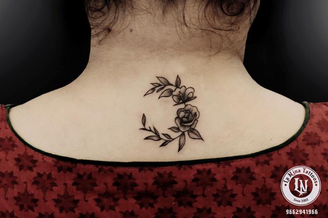 Flower tattoo | La Nina Tattoos | Best tattoo studio in ahmedabad| Best tattoo artist | Gujarat | India