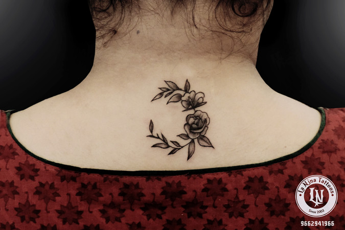 Flower tattoo | La Nina Tattoos | Best tattoo studio in ahmedabad| Best tattoo artist | Gujarat | India