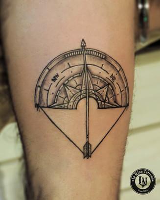 Compass tattoo | La Nina Tattoos | Best tattoo studio in ahmedabad| Best tattoo artist | Gujarat | India