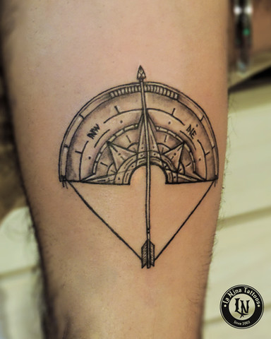 Compass tattoo | La Nina Tattoos | Best tattoo studio in ahmedabad| Best tattoo artist | Gujarat | India