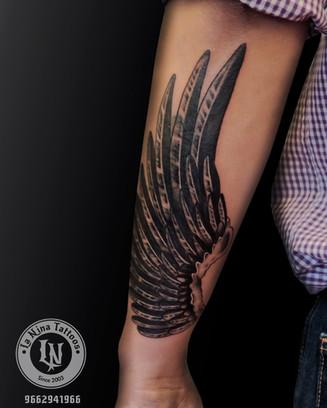 Coverup feather tattoo | La Nina Tattoos | Best tattoo studio in ahmedabad| Best tattoo artist | Gujarat | India
