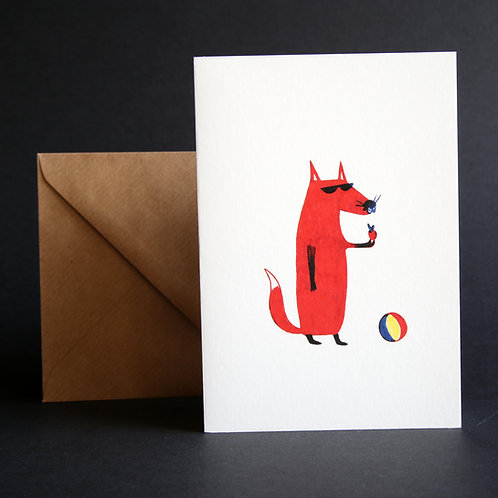 Postcard - Fox - Collection Scola