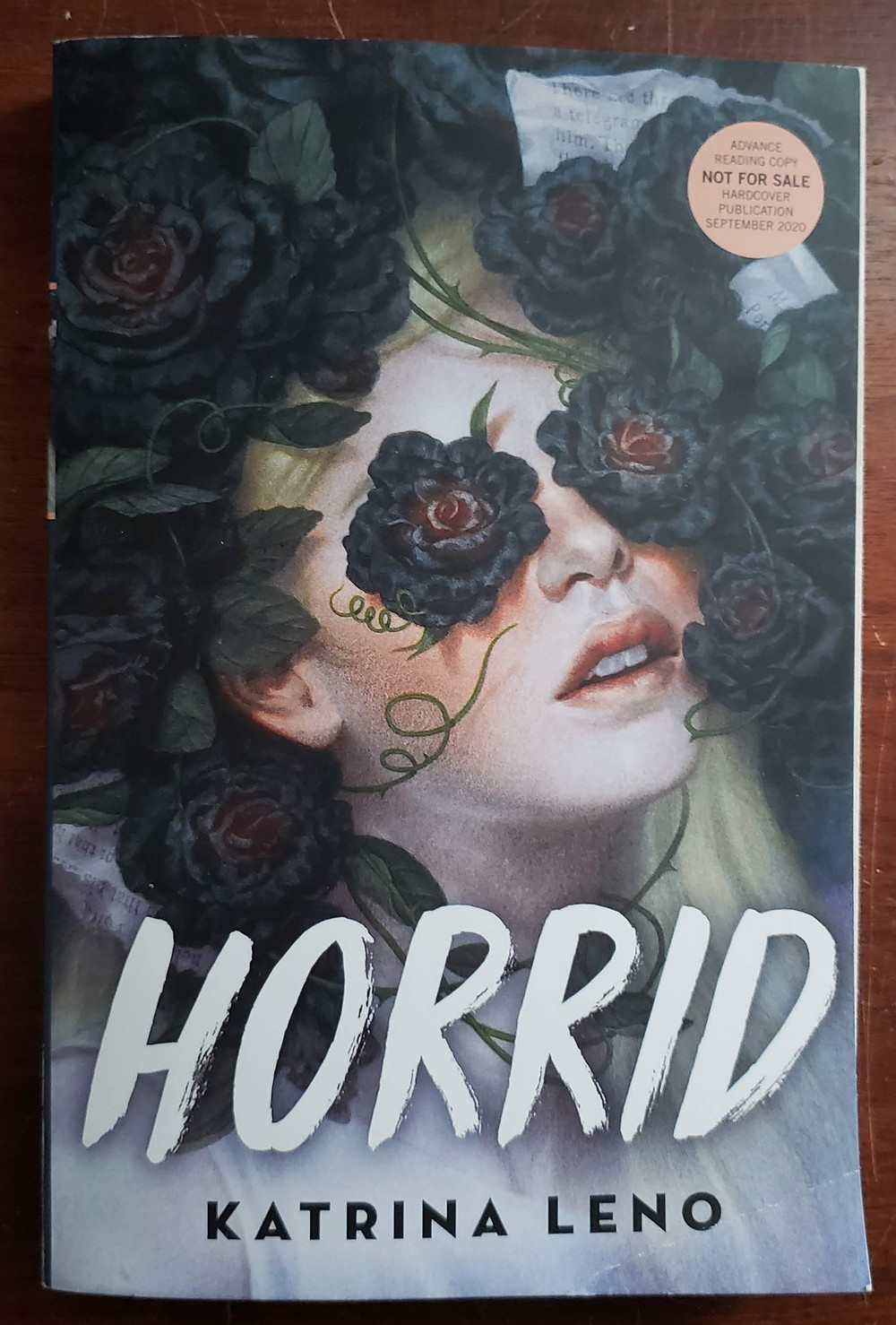 Front image of the book cover for Horrid by Katrina Leno.