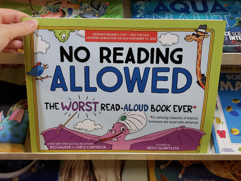Review   No Reading Allowed