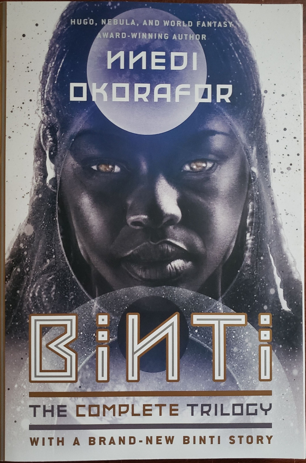Front image of the book cover for Binti by Nnedi Okorafor.