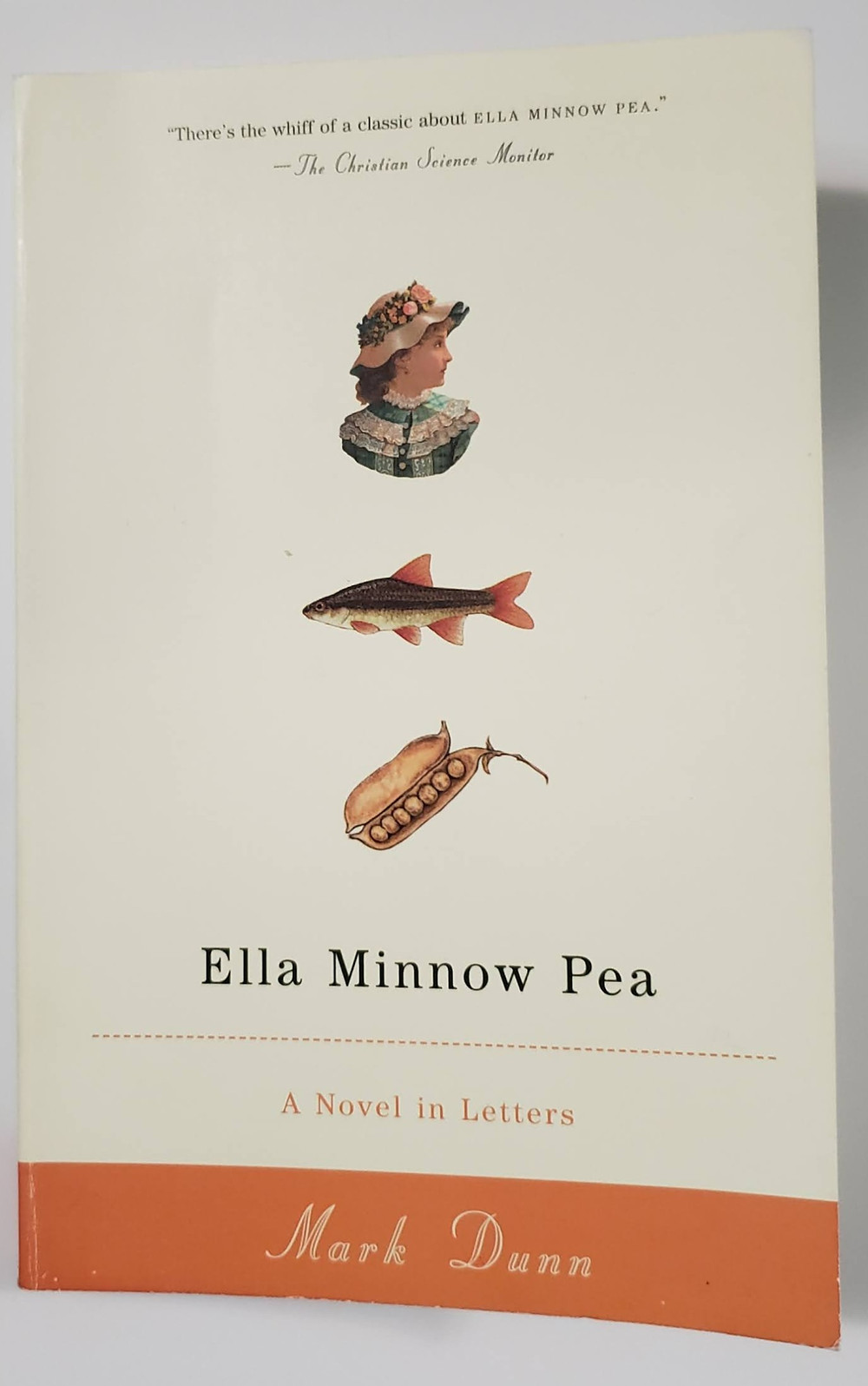 The front facing cover of the book Ella Minnow Pea by Mark Dunn.