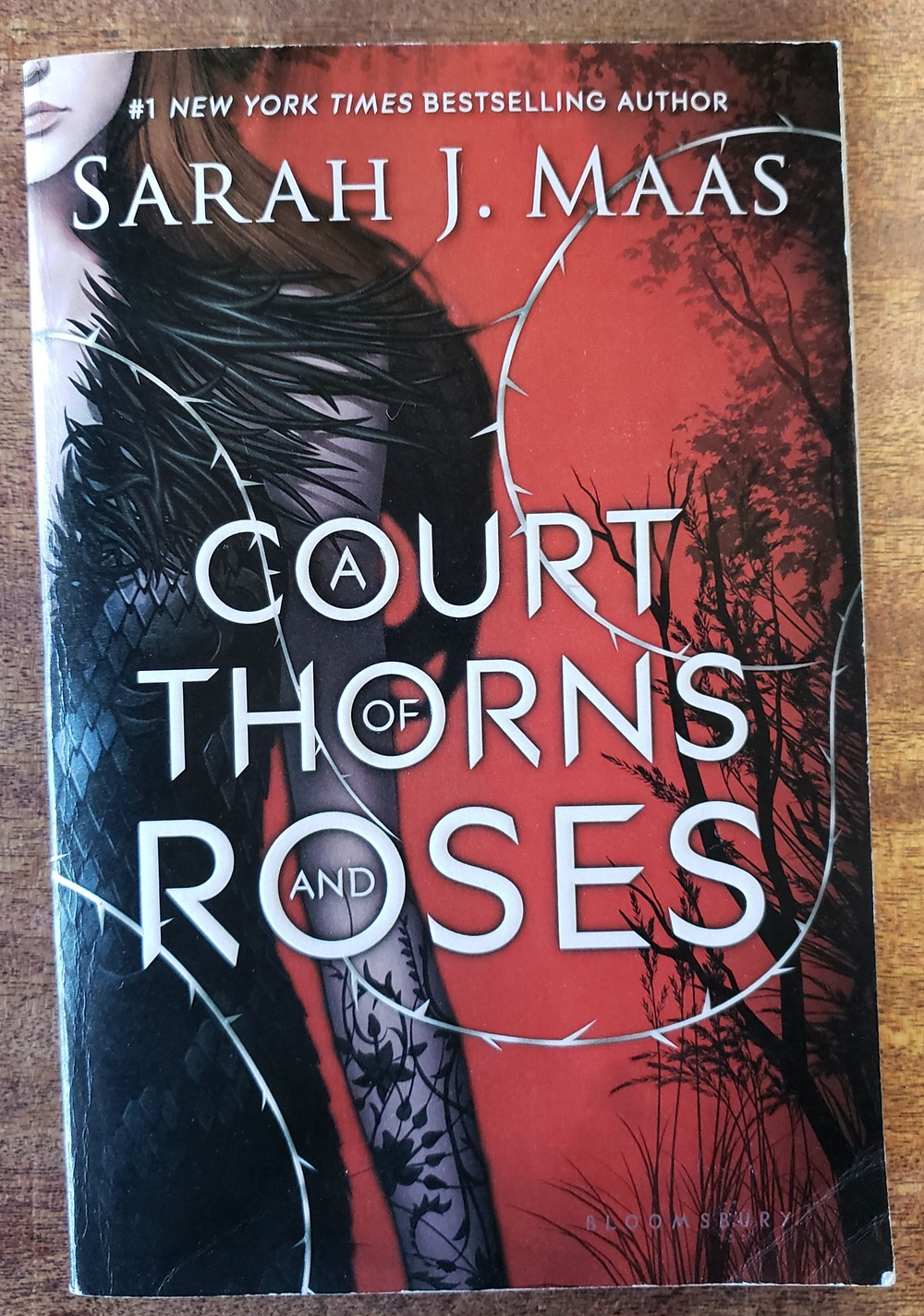 Front cover of the book A Court of Thorns and Roses by Sarah J. Maas.