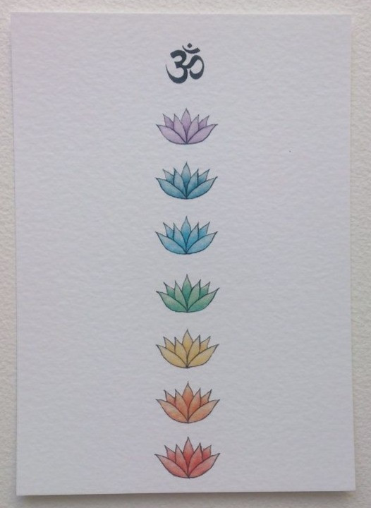 Colored lotuses in order from dark to light