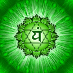 An icon depicting the symbol for the fourth chakra