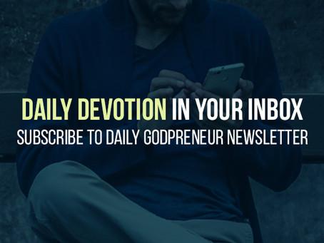 Free Daily Devotional for Christian Entrepreneurs