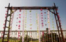 OCgazebos bamboo ladder arch