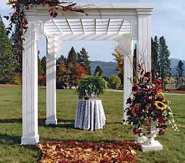 PRESIDENTIAL WHITE WOOD  CANOPY