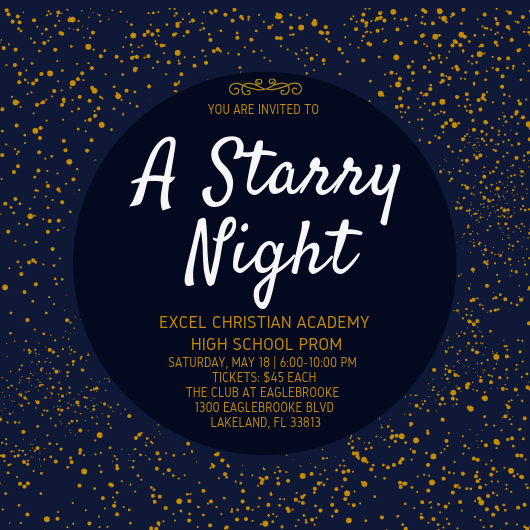 Excel Academy Prom Ticket Info