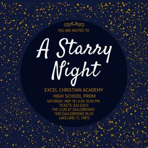 Excel Academy Prom Ticket Info