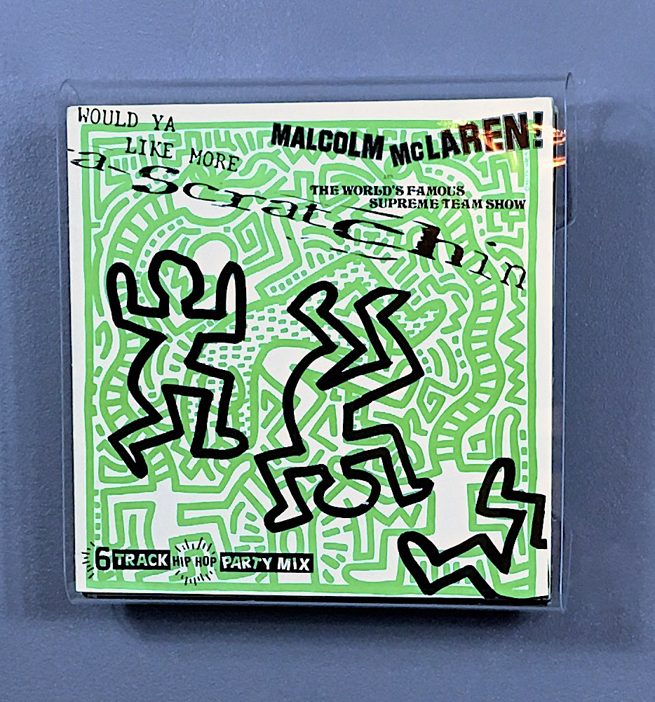 Keith Haring's cover for Malcolm McLaren's EP.