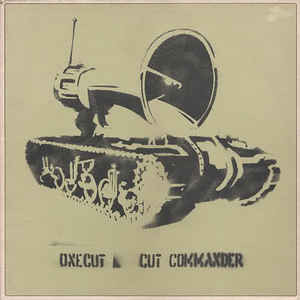 """Banksy's cover for One Cut's """"Cut Commander"""" 12"""" EP."""