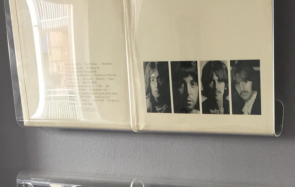 "Richard Hamilton's design for ""The Beatles"" 1968 album."
