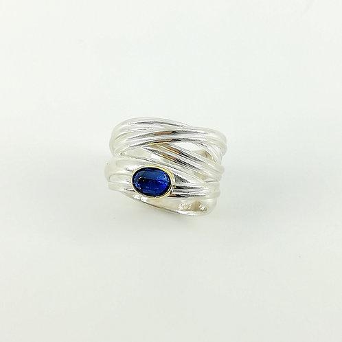 Silver art ring