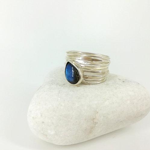 Ring with Labradorite