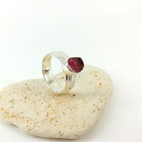 Rough Tourmaline ring
