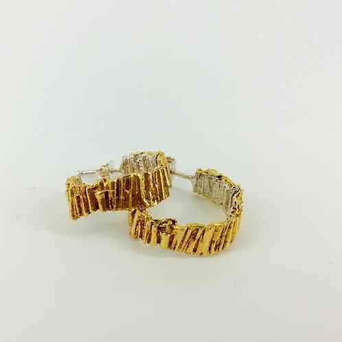 Art Earrings gold plated