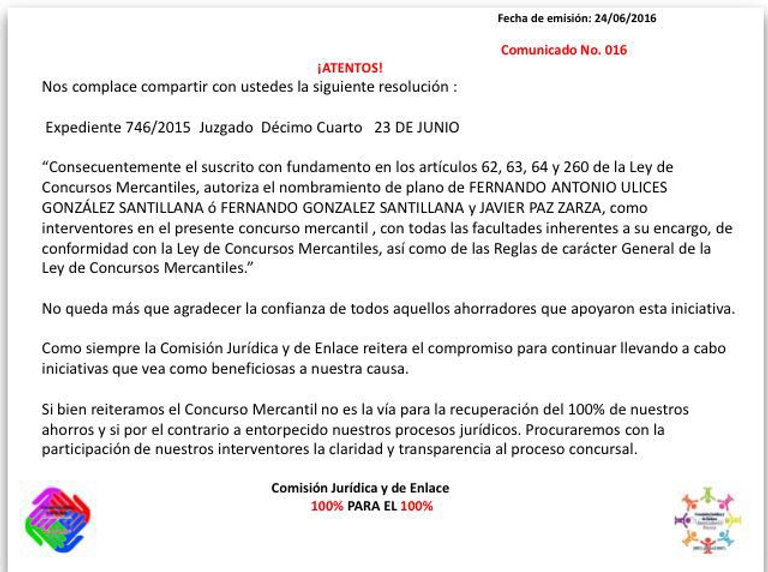 Concurso Mercantil Ficrea