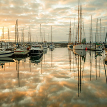 Sunrise at Boat Haven in Port Townsend