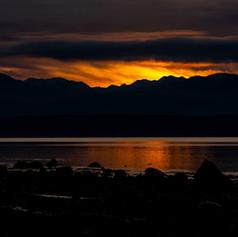 Sunset over the Strait of Juan De Fuca