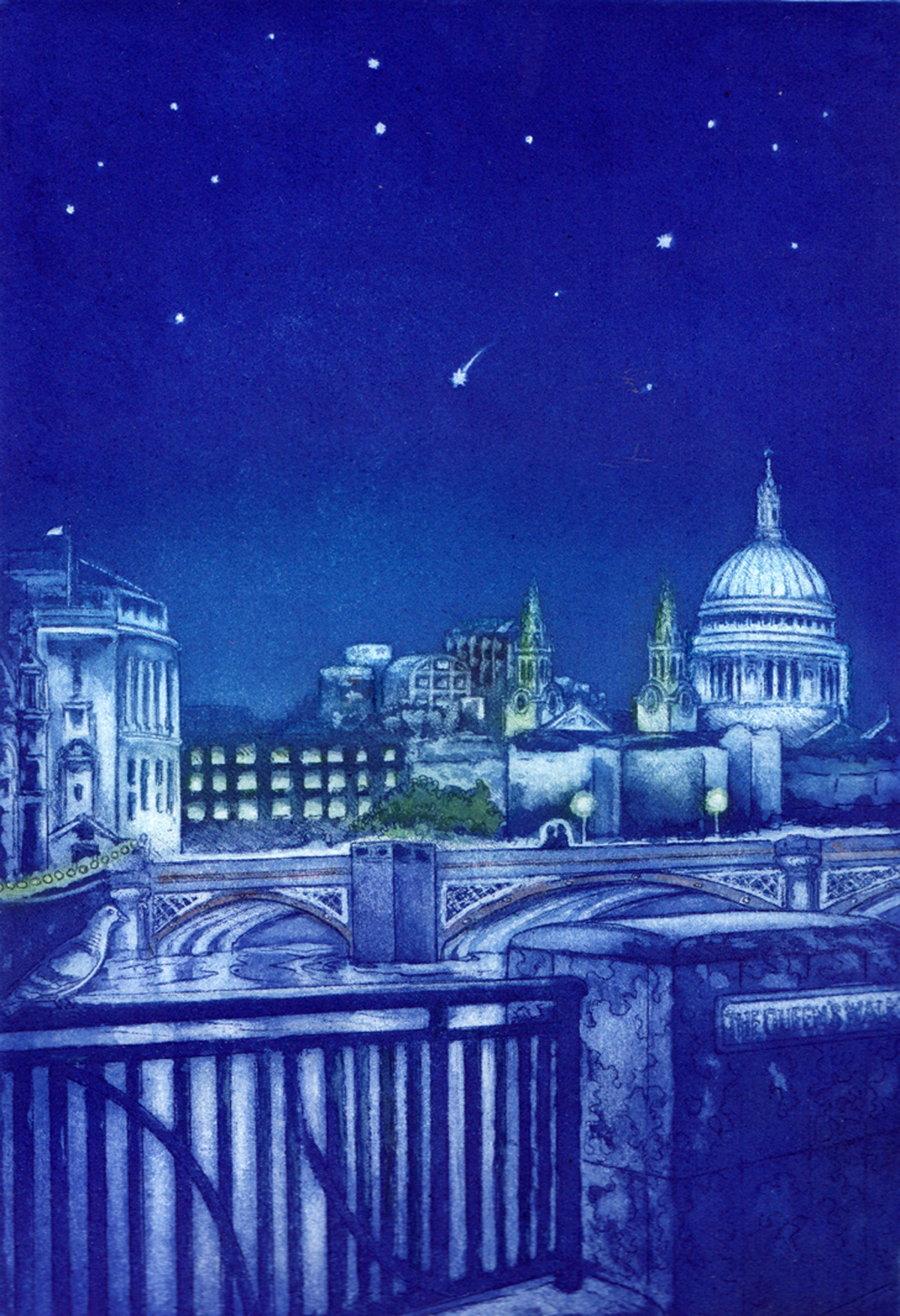 Starry night, Thameside