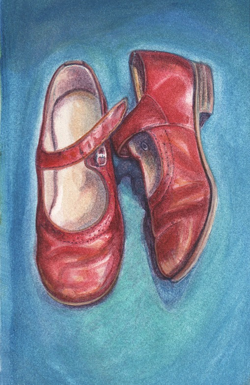Red school shoes