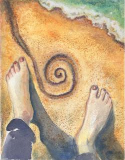 Sand spiral