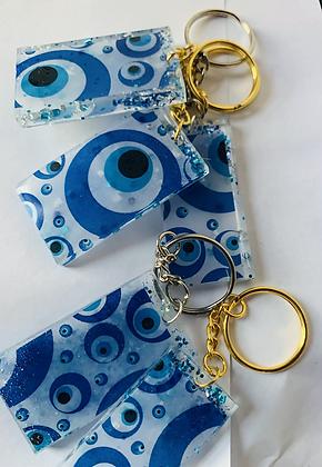 Evil Eye protection keychain