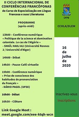 Deuxième Cycle International de Conférences Francophones