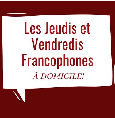 BiblioMaison : Les Jeudis et Vendredis Francophones à domicile!