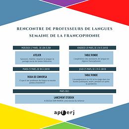 RENCONTRE DE PROFESSEURS DE LANGUES APFERJ/ SEMAINE DE LA FRANCOPHONIE