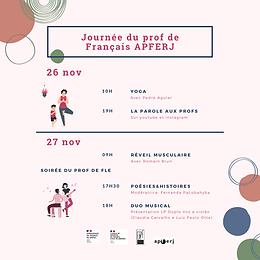 L'APFERJ fête le Jour du Prof de Français