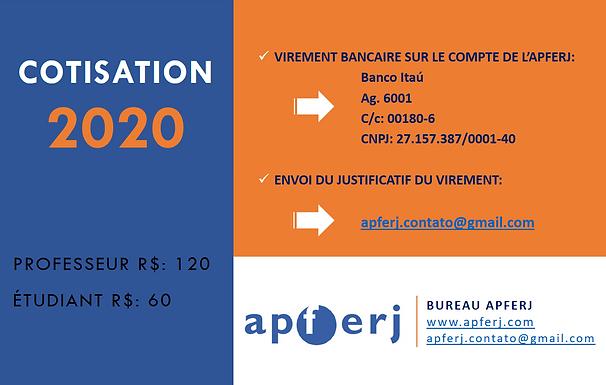 Cotisation APFERJ 2020