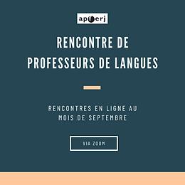 Rencontre de professeurs de langues