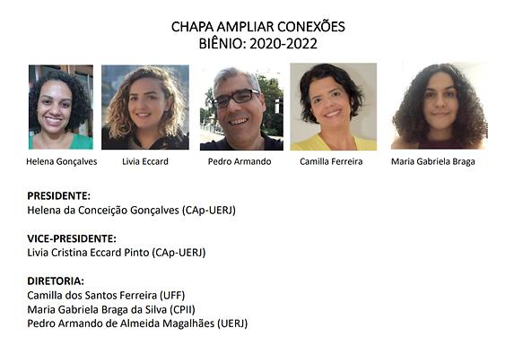 Élections APFERJ : Chapa Ampliar Conexões