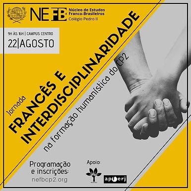 II Jornada do NEFB/CP2 - 2019: Francês e interdisciplinaridade na formação humanística do CP2