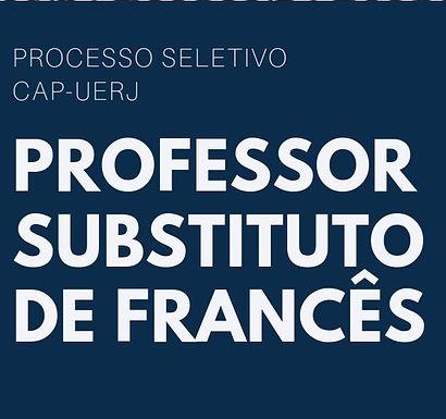 Processo Seletivo para Professor Substituto de Francês no CAp-UERJ