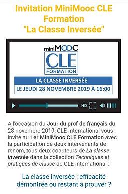 MiniMOOC  CLE FORMATION - La classe inversée