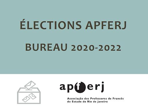 Élections pour le Bureau Directeur de l'APFERJ 2020-2022