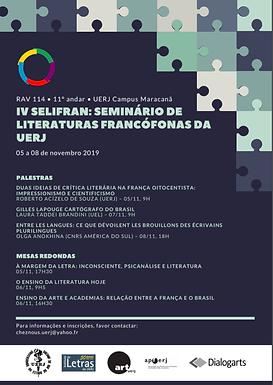 IV SELIFRAN: Seminário de Literaturas Francófonas da UERJ