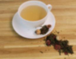 grøn tranebær te