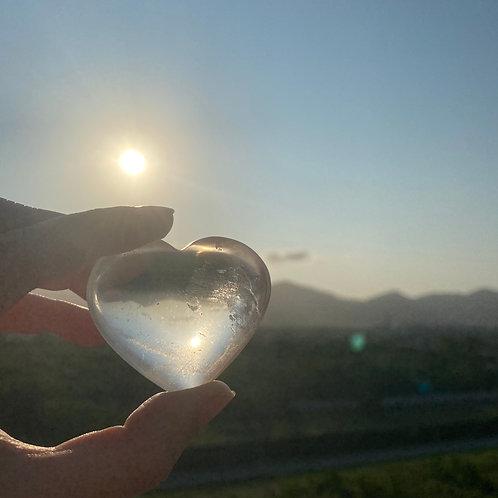 Coração de Cristal transparente