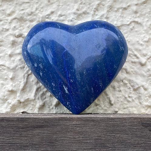 Coração de cristal Quartzo Azul